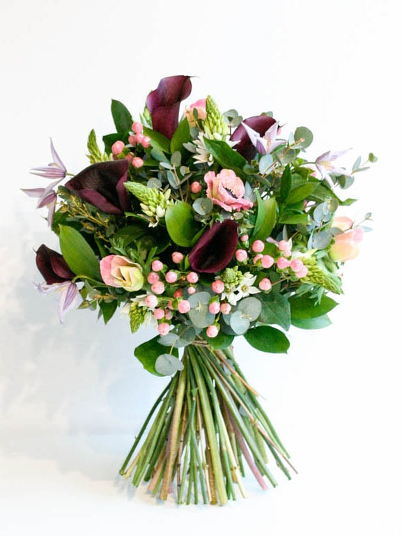 Beautiful calla and mixed flower bouquet, delivered in north London, created by Garland