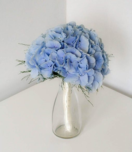 Blue Hydrangea Bridesmaids Bouquet