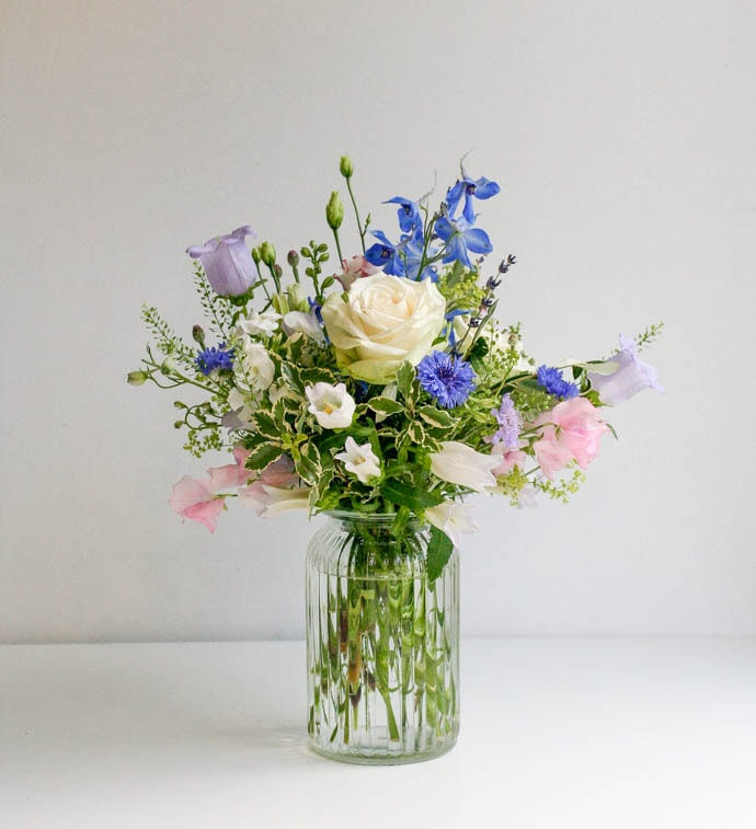 Relaxed flowers picked from a meadow