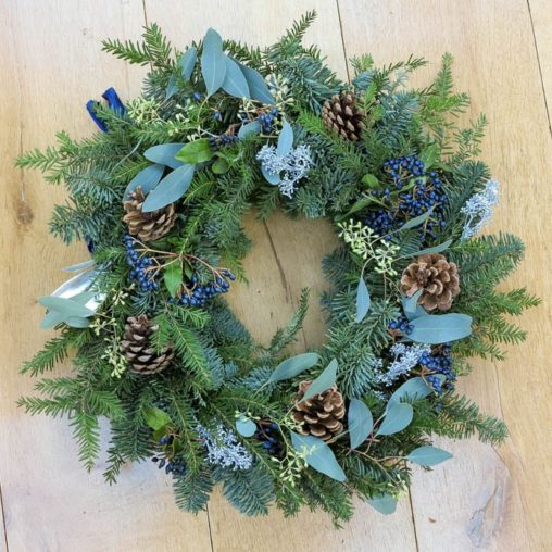 Christmas Wreath with silver detail